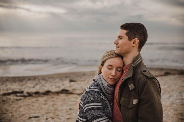 couple quiberon portrait plage