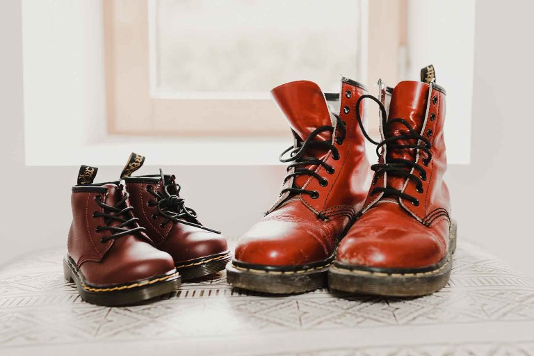 baby dr martens red