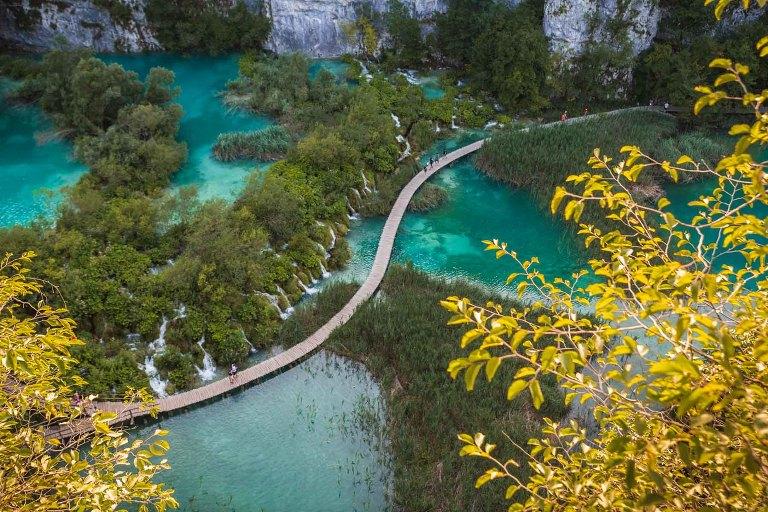 lac ponton bois Croatie
